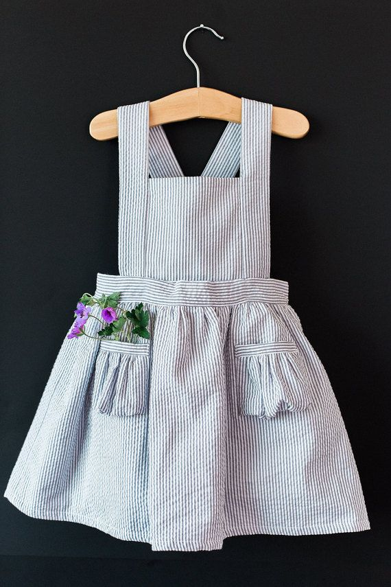 Ayla Toddler Pinafore Dress Vintage Girls Dress 2t 3t