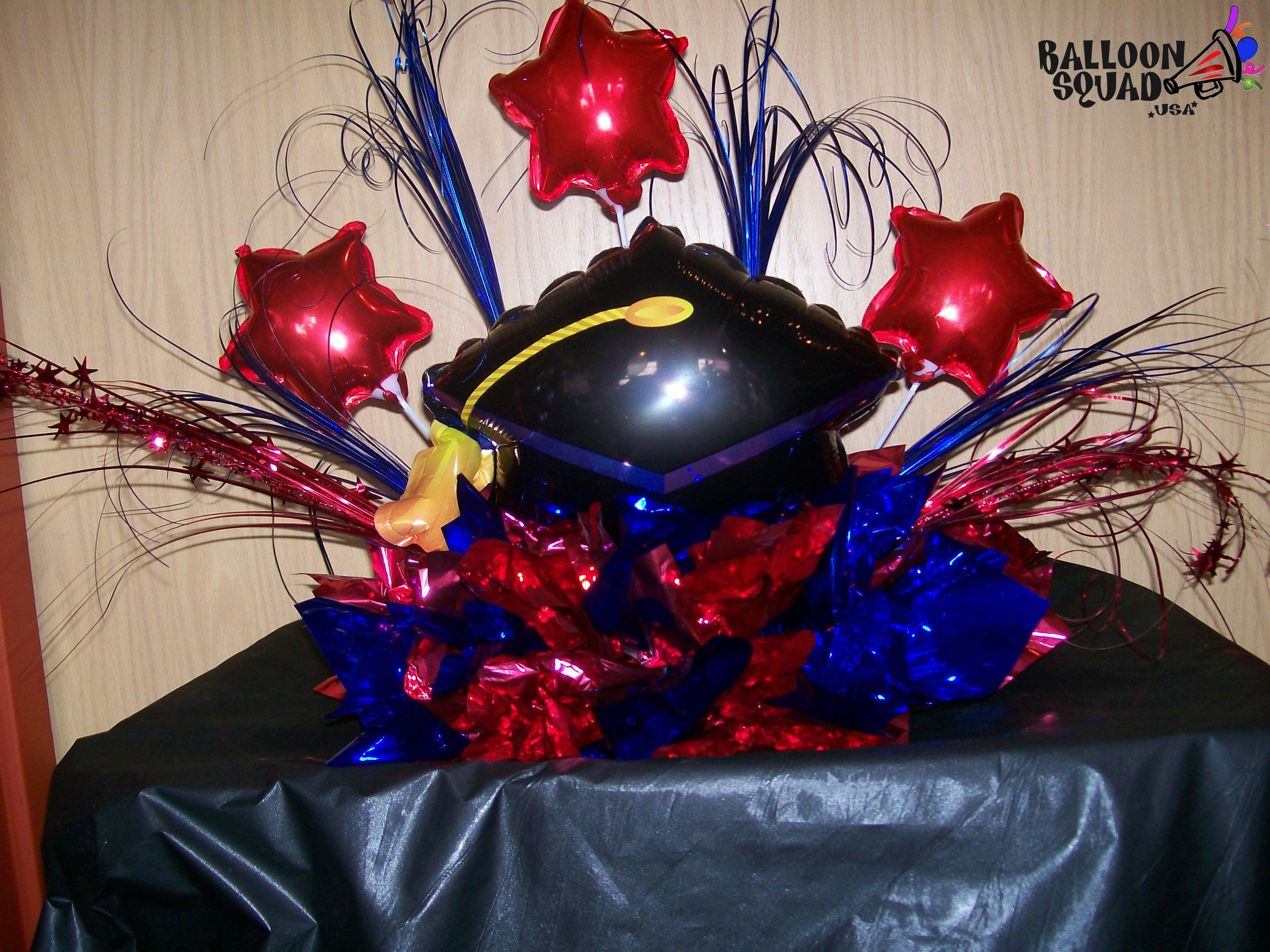 Graduation balloon decoration balloon centerpiece for Balloon decoration graduation