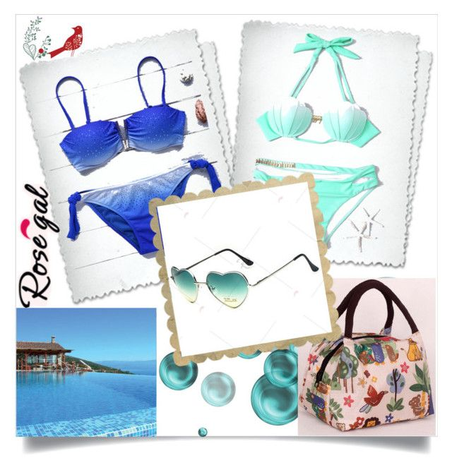 """""""Ombre Bikini Set"""" by semiragoletic ❤ liked on Polyvore"""