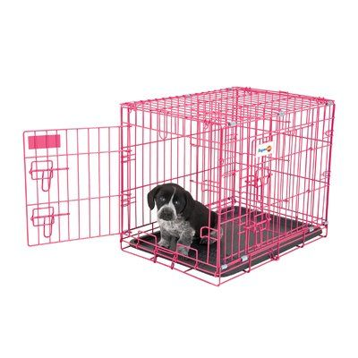 Aspen Pet Puppy 2 Door Training Retreat Pet Crate Color Pink Puppy Crate Puppy Training Dog Cages