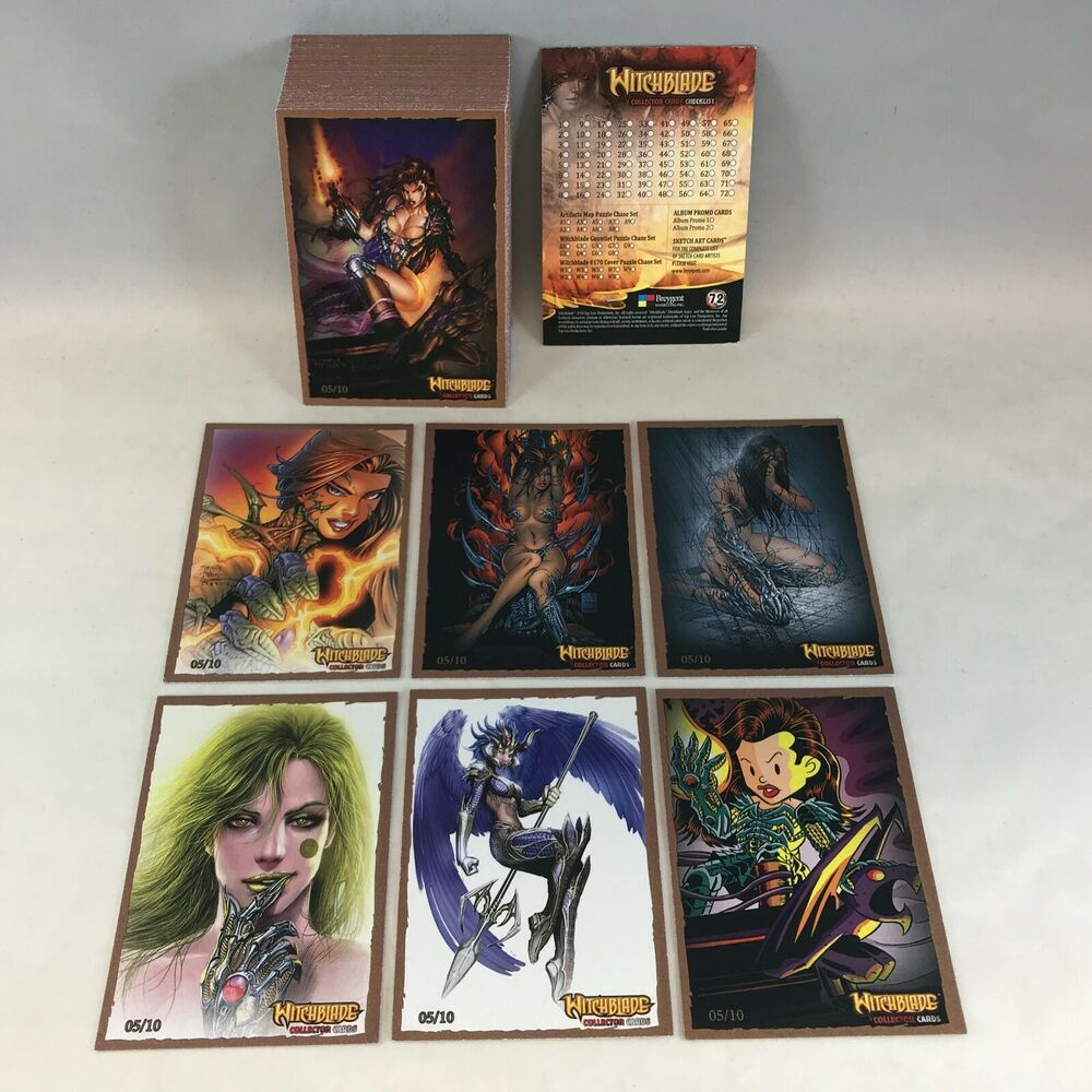 Witchblade Breygent 2014 Complete Bronze Border Parallel Card Set Each 05 10 Card Set Cards Bronze