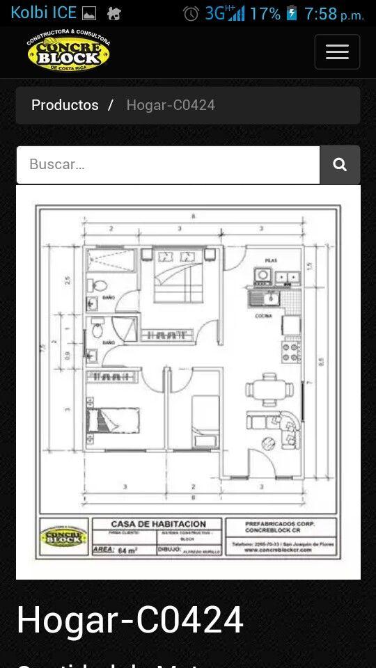 2 baños, 3 cuartos   Tiny house, Floor plans