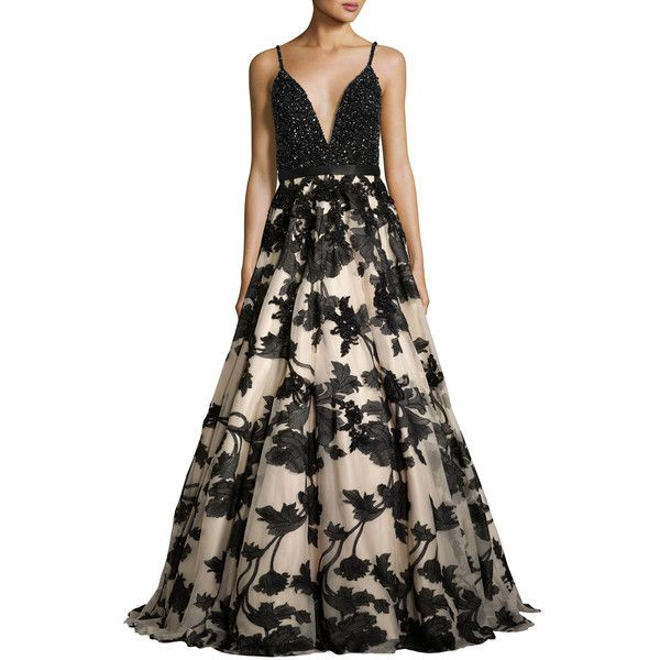 9b24027d0e Jovani Sleeveless Beaded Embroidered Combo Gown ( 1