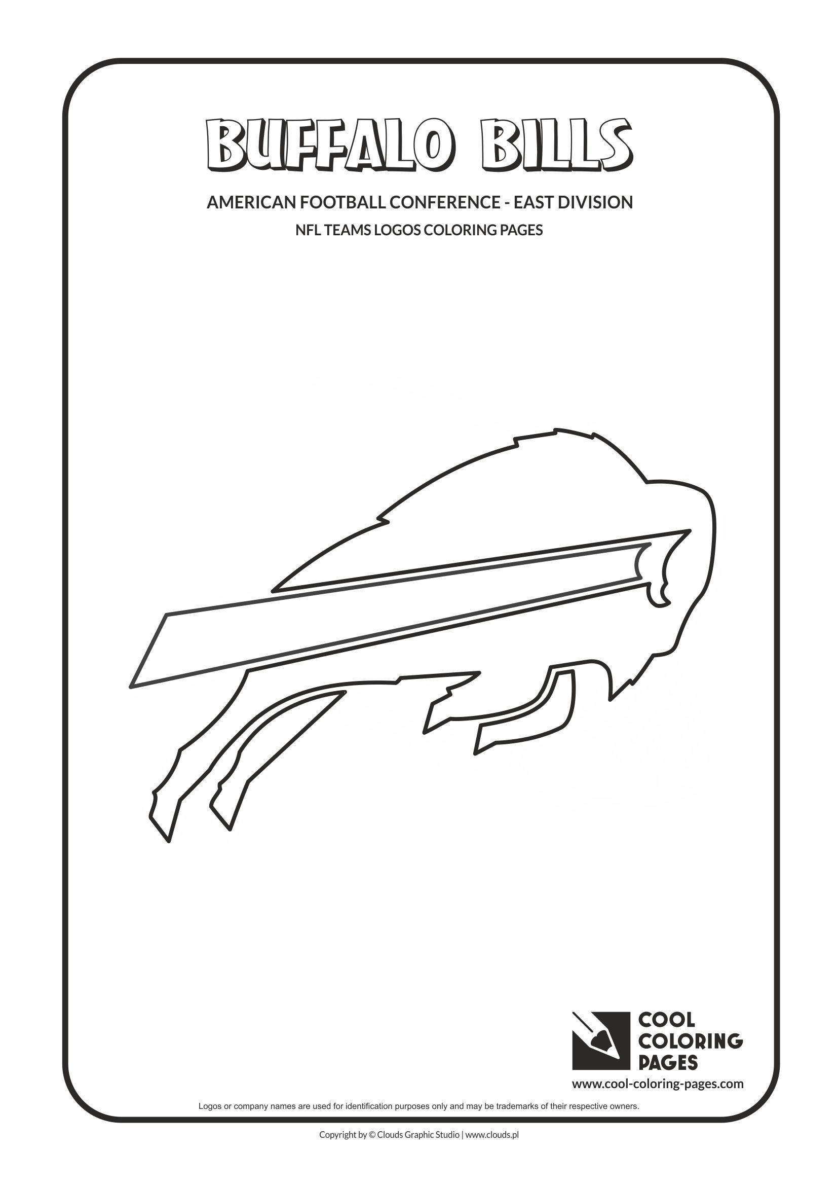Cool Coloring Pages - NFL American Football Clubs Logos - American ...