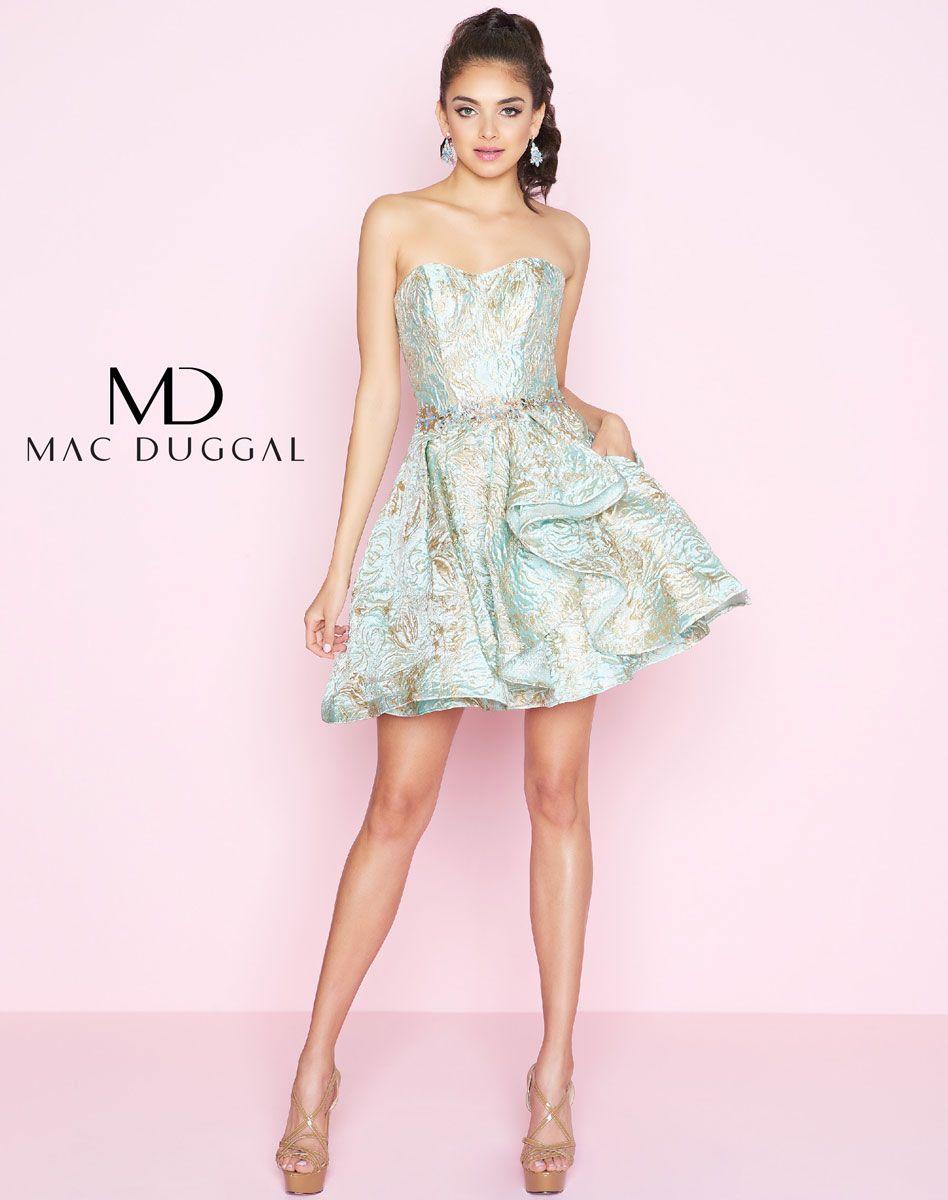40867n Mac Duggal Short Dress Metallic Short Dresses Dresses Short Dresses [ 1200 x 948 Pixel ]