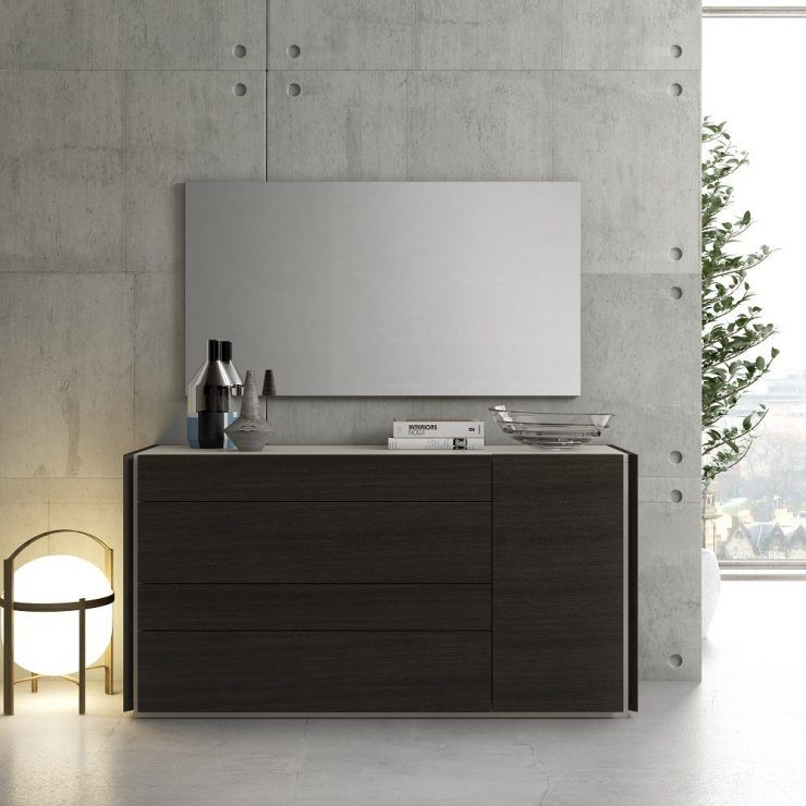 Contemporary Modern Dresser With Mirror