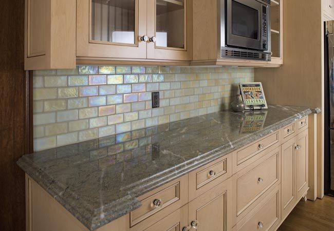 glass tile backsplash Glass tiles in types of shapes like these
