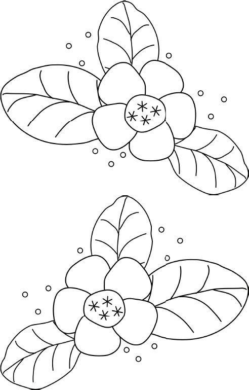 Small Flower Embroidery Pattern | Embroidery | Bordado, Dibujos para ...