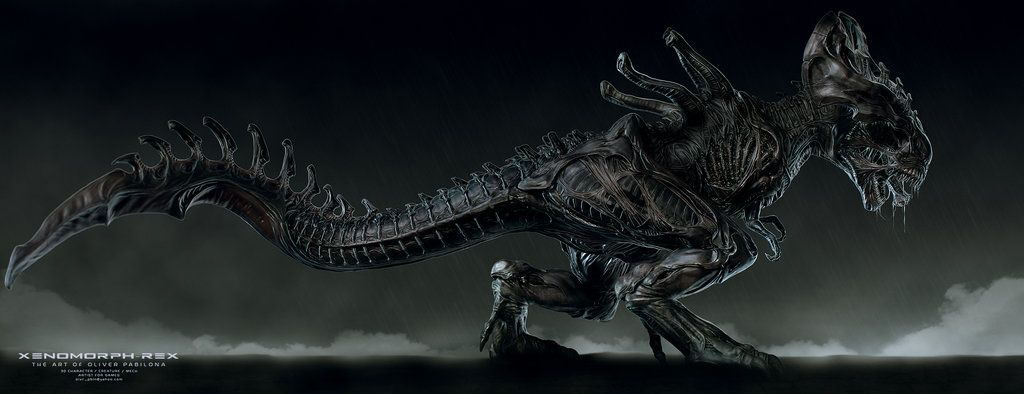 Xenomorph Rex Illustration By Rhythem02 On Deviantart Xenomorph Alien