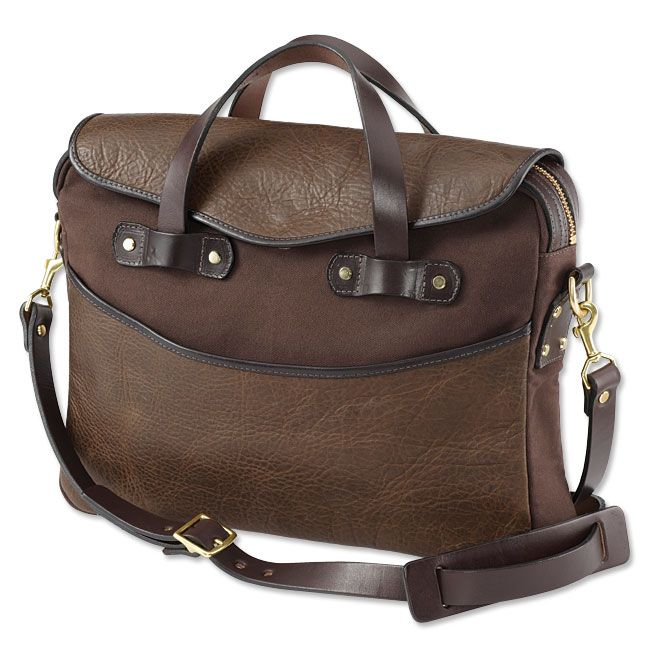 9b11ec8611cd1 Just found this Leather Canvas Bag - American Bison-Canvas Briefcase --  Orvis on Orvis.com!