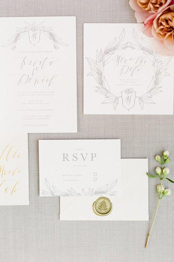Elegant Wedding Invitations | 100 Layer Cake | L E T T E R S ...