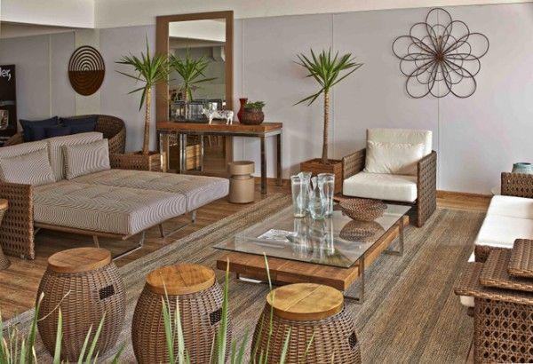 Móveis para terraços e varandas Sweet Home em 2019 Varanda gourmet, Pisos rústicos e Varanda  -> Decoração De Area Externa Pequena