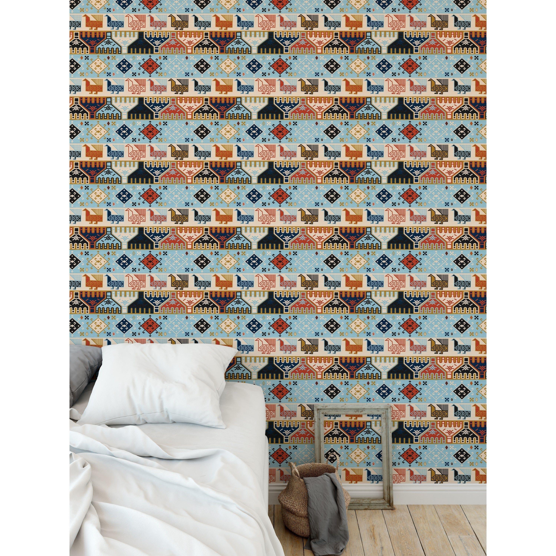 Dena Light Blue Peel And Stick Wallpaper By Kavka Designs Peel Stick Wallpaper Wallpaper Home Wallpaper