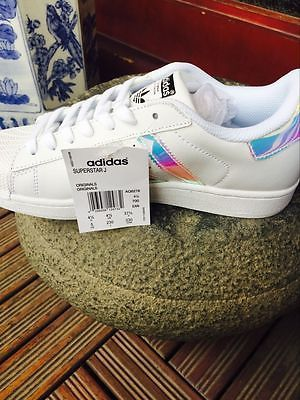 newest c682c 297f6 Adidas Superstar White Hologram Iridescent GS AQ6278 Boys Girls Women  shoes