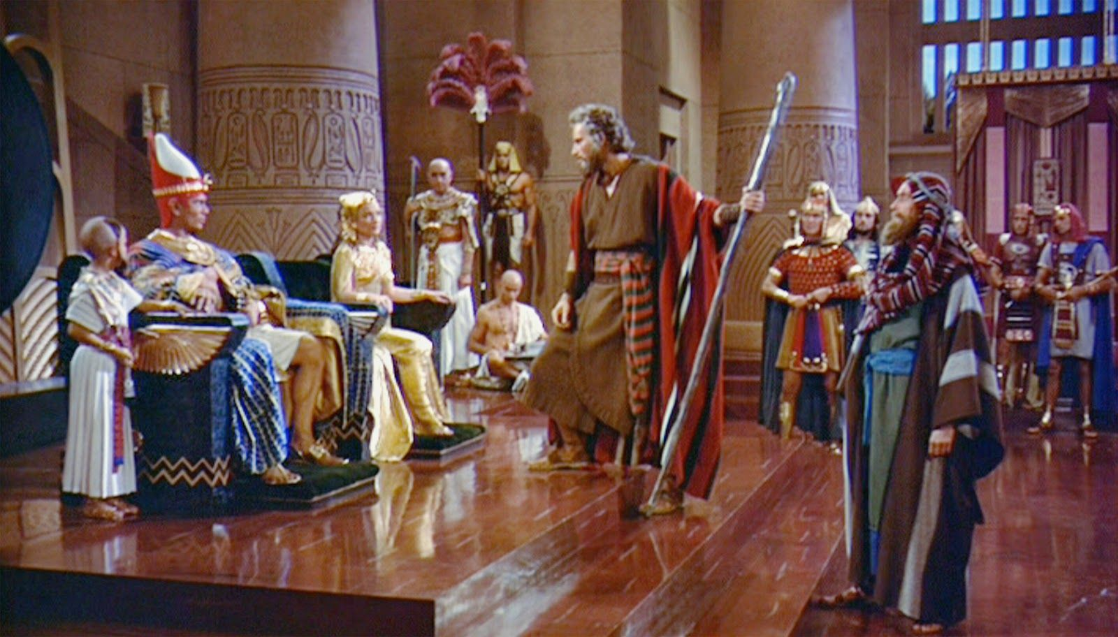 Moses addresses Pharaoh. image - Christians of Moddb | Yul brynner ...