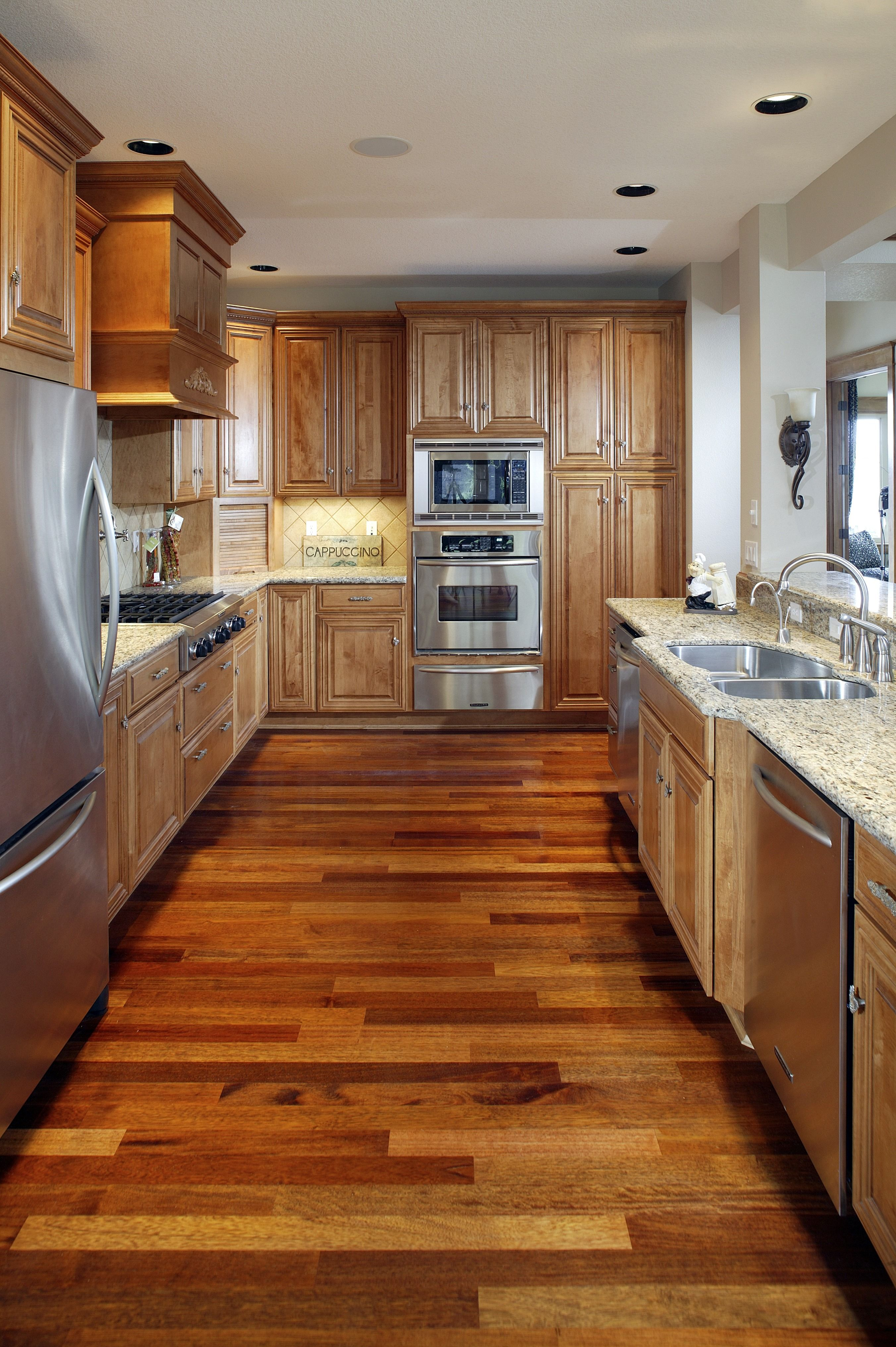 - These Wood Floors Are Stunning! This Kitchen Has Beautiful