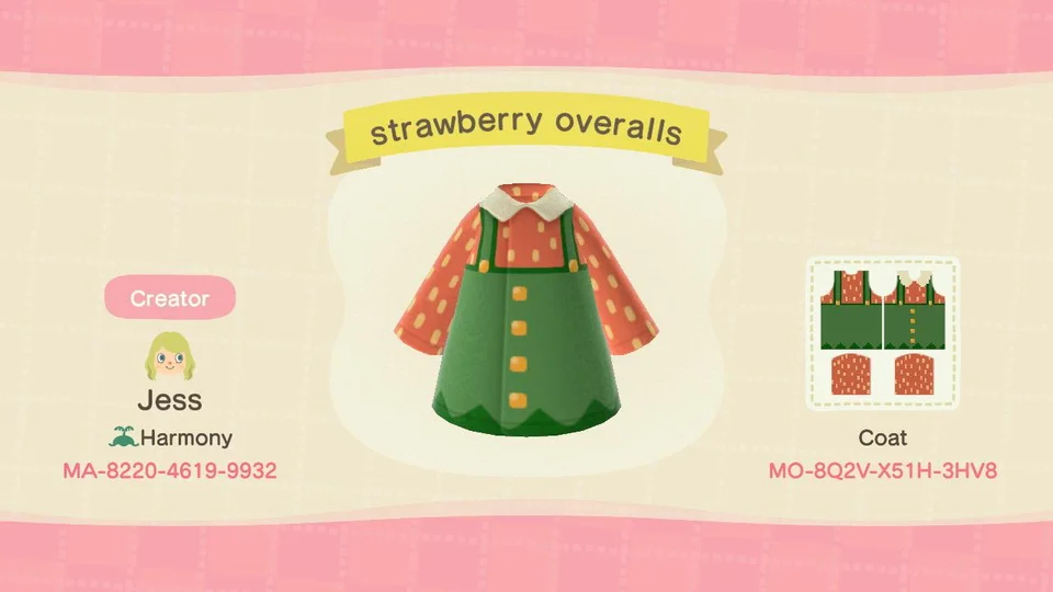 16 Strawberry Overalls I Made Acqr In 2020 Animal