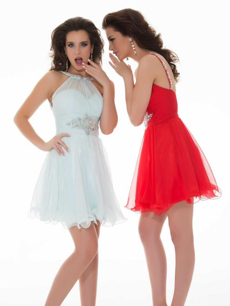 Jewel Short Red Tulle A Line Homecoming/Cocktail Dress
