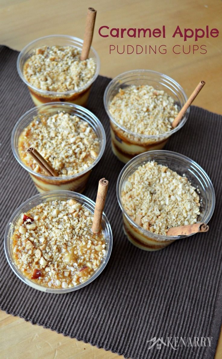 Caramel Apple Pudding Cups  Recipe  The Best Season Of -4513