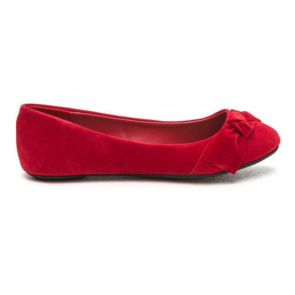 a0848c02a40 Bow Yeah Velvet Ballet Flats ( 14) ❤ liked on Polyvore featuring shoes