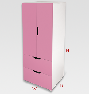 Flatpax Kids Furniture   Pink Kids Wardrobe