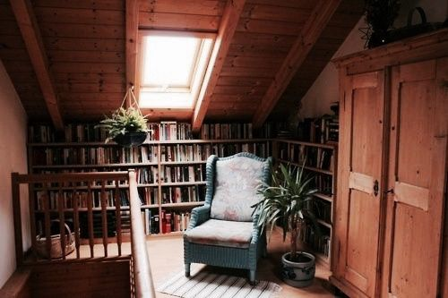 Attic Reading Nook Home Library Design Cozy Home Library Cozy House