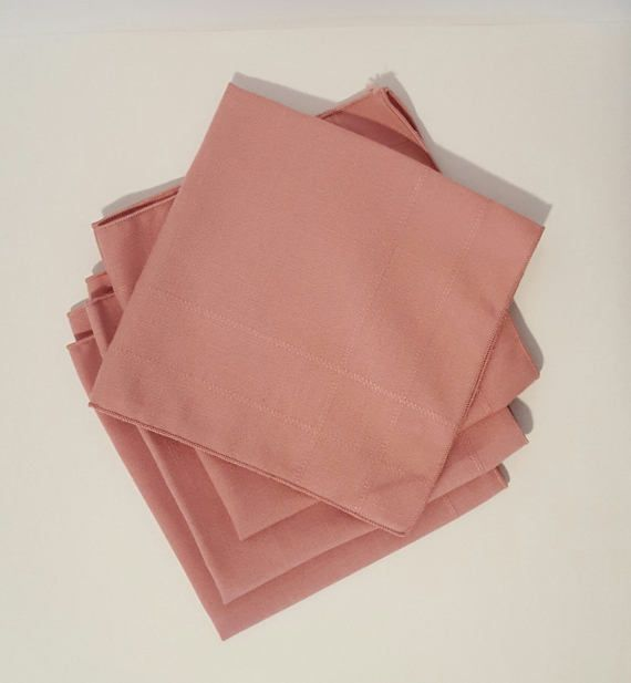 Pink/Rose Napkins by TavinsChoice.etsy.com  $9.00
