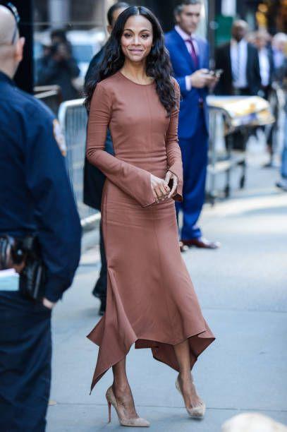 befc105ad7885 Zoe Saldana in Sies Marjan - Street Style | Cute Outfits / Looks in ...