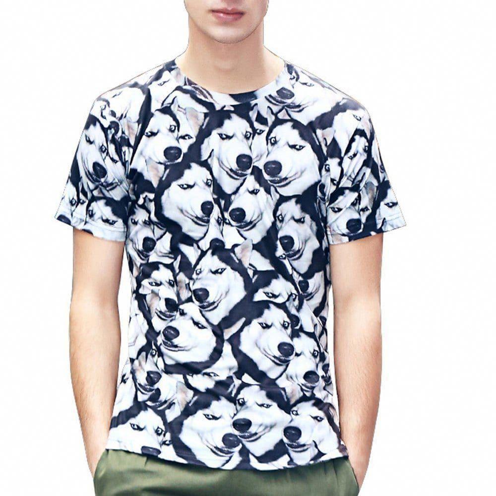 Animal Dog 3D Printed Tshirt multicolor A L