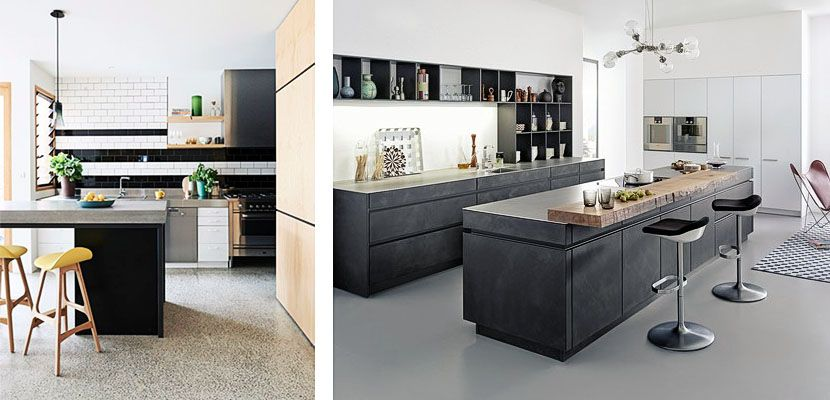 Cemento pulido en el diseño de la cocina | Cemento pulido, Cemento y ...