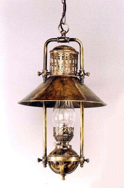 Brass · Kerosene Lamp | Antique Brass Vintage Hanging Oil Lantern