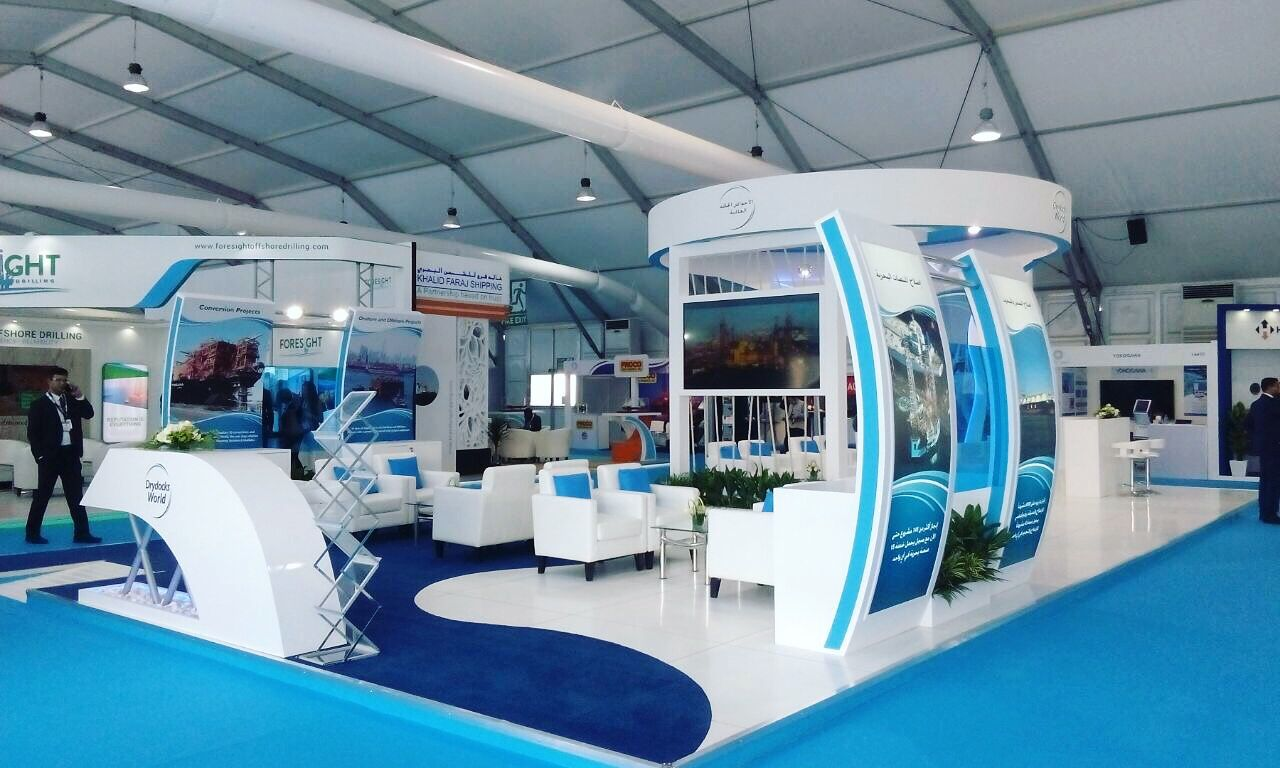 Exhibition Stall Reference : Drydocks world adipec work done by bigdot