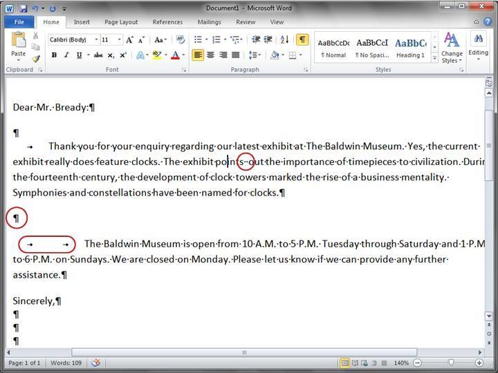 Go Behind The Scenes With Formatting Marks Microsoft Word 2010 Words Marks