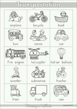 pin by nguy n ph ng on coloring english class teaching english transportation activities. Black Bedroom Furniture Sets. Home Design Ideas