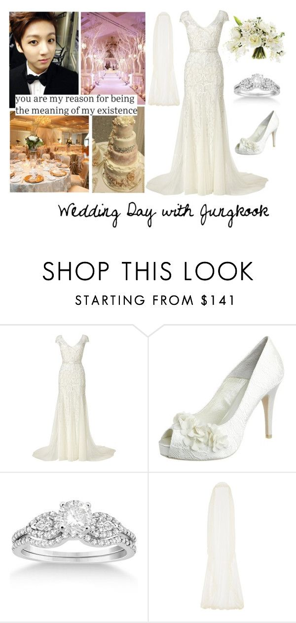 """""""Wedding Day with Jungkook"""" by btsoutfits ❤ liked on Polyvore featuring Phase Eight, Menbur, Allurez and Rime Arodaky"""