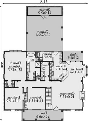 hillcrest house plan 3546 3 bedrooms and 2 baths the