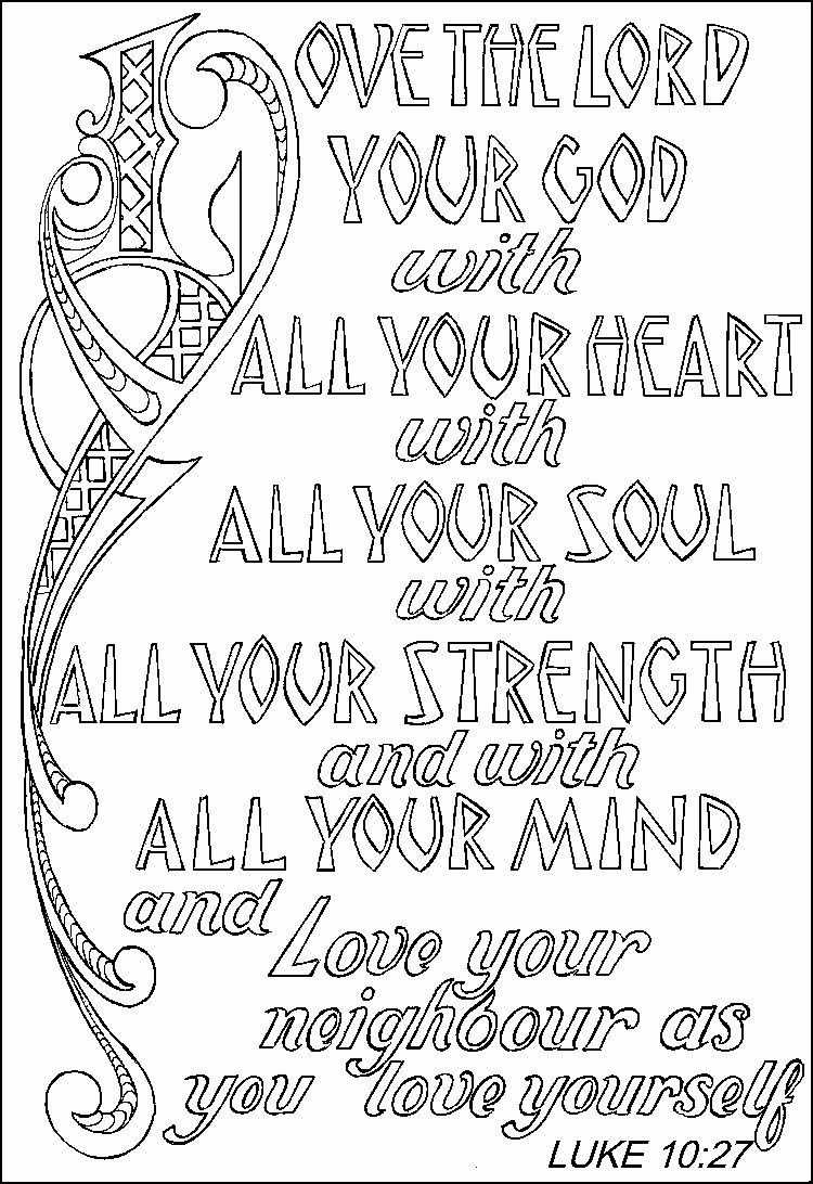 Deuteronomy 6 5 Coloring Page New Printable Color Pages In 2020