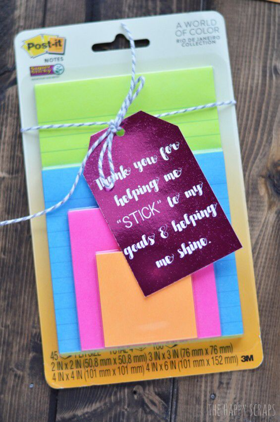sticky post it notes note teacher appreciation week gift ...