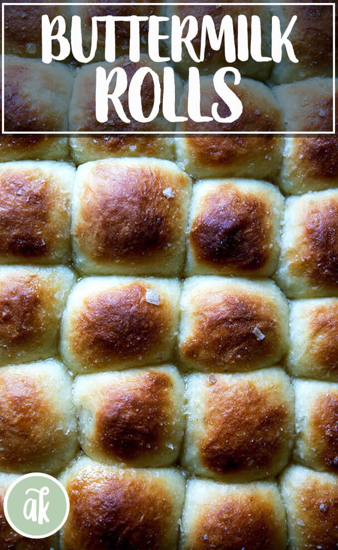 No Knead Buttermilk Pull Apart Rolls Alexandra S Kitchen Recipe Breakfast Cake Recipes Recipes Buttermilk