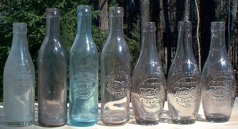Antique PEPSI bottles  | P E P S I | Antique glass bottles, Pepsi