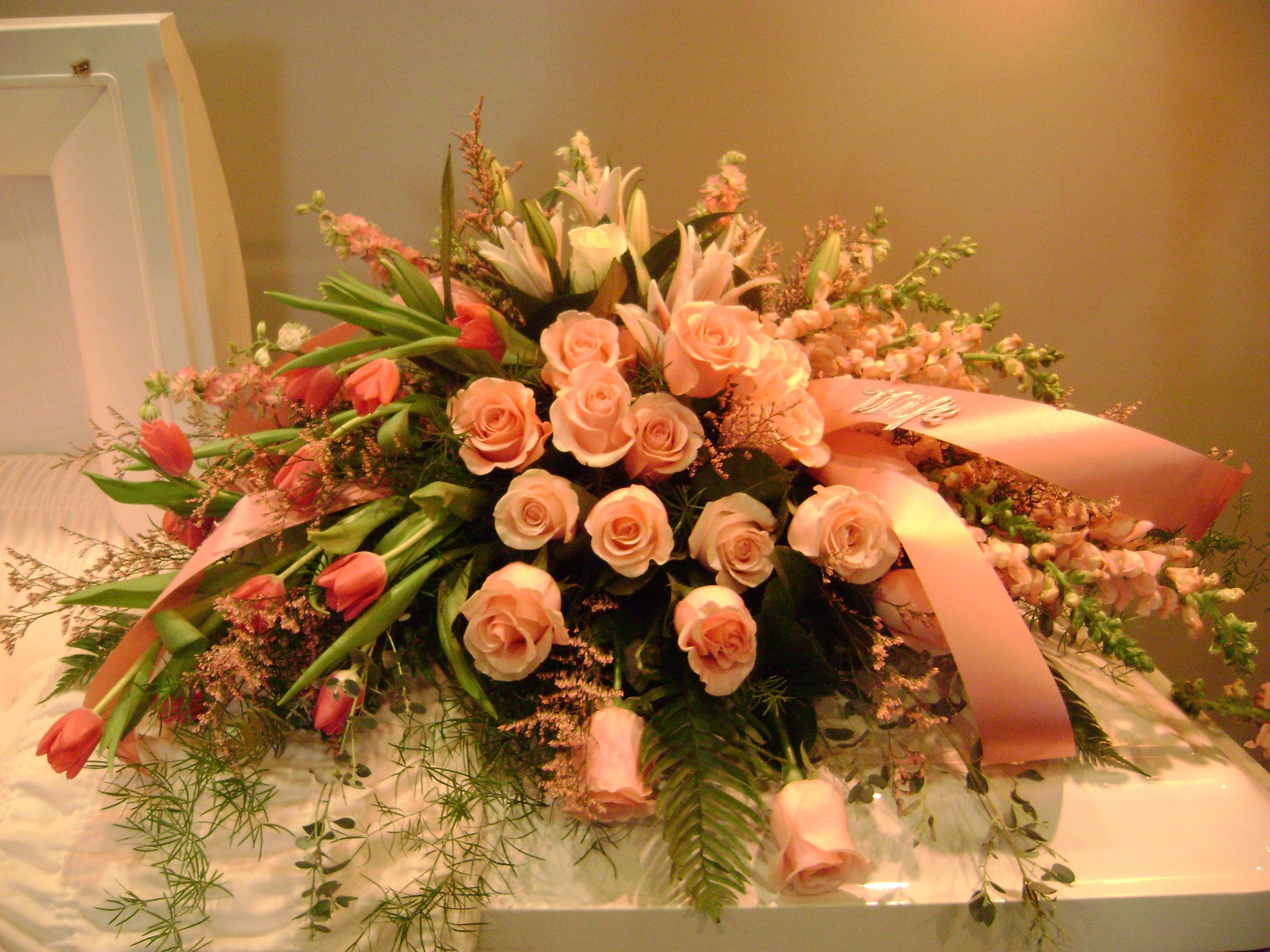 95 best funeral images on pinterest funeral flowers sympathy casket spray funeral arrangementsflower dhlflorist Gallery