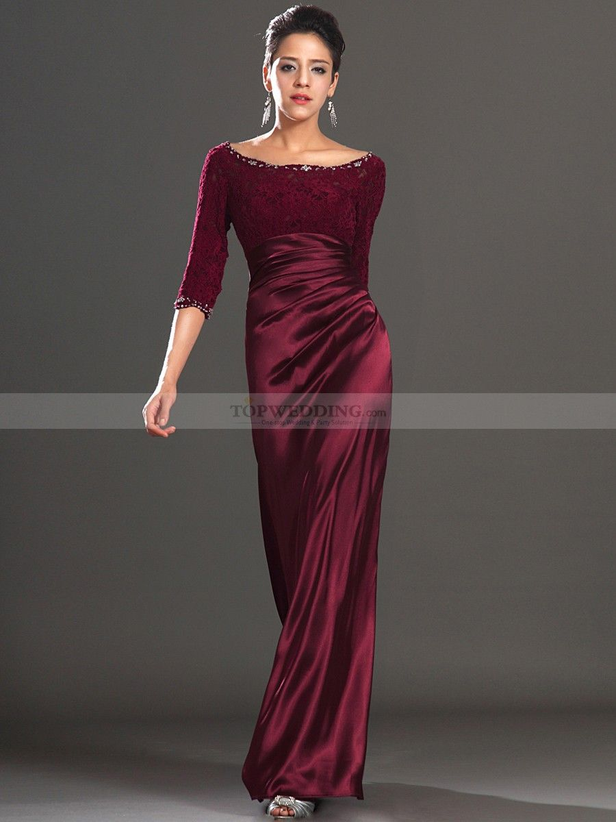 long sleeve evening gowns | Elegant Long Sleeve Evening Gown in ...