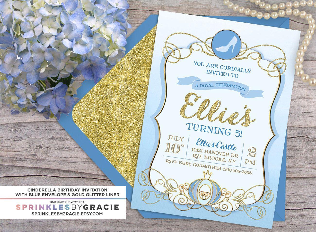 Cinderella Royal Ball Birthday Party Invitation with Free Shipping ...