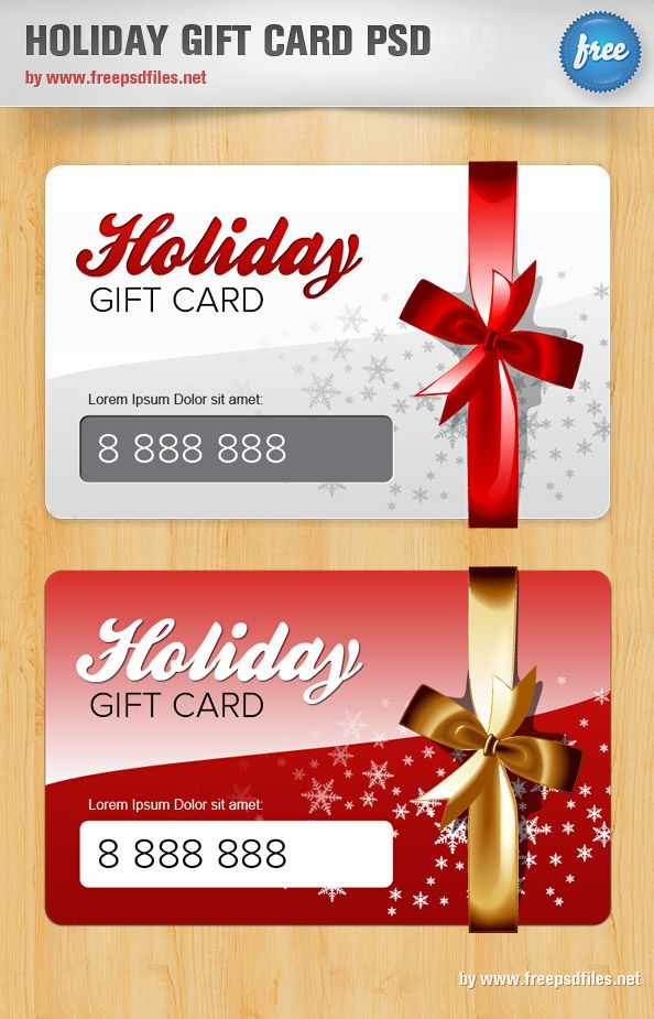 Gift Card Free PSD Template - Cards, Editing, Photoshop - christmas gift certificates free