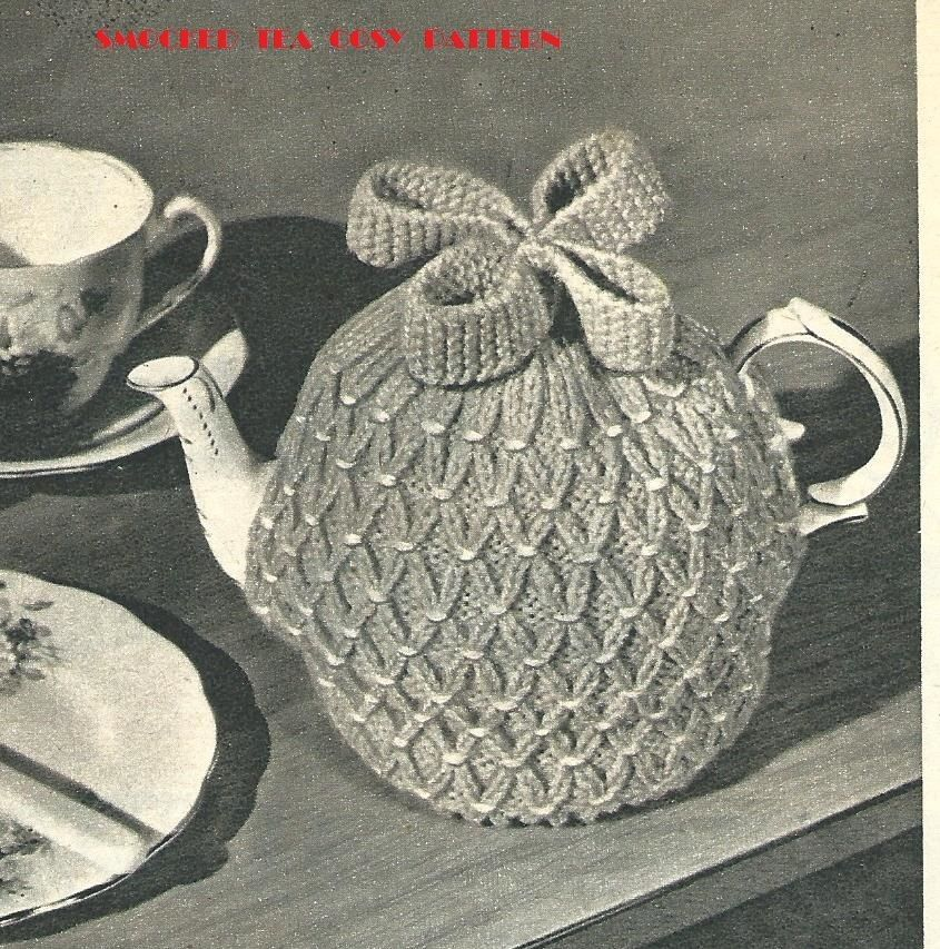 Smocked Tea Cosy Vintage Knitting PATTERN - Cozy (With ...