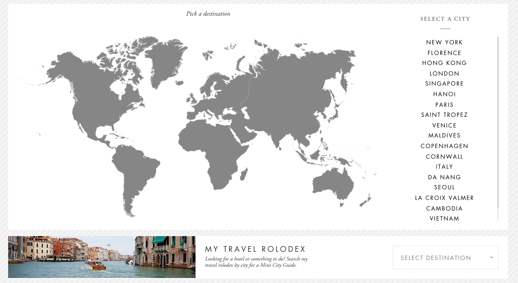 Interactive map example for homepage design from Peonylim
