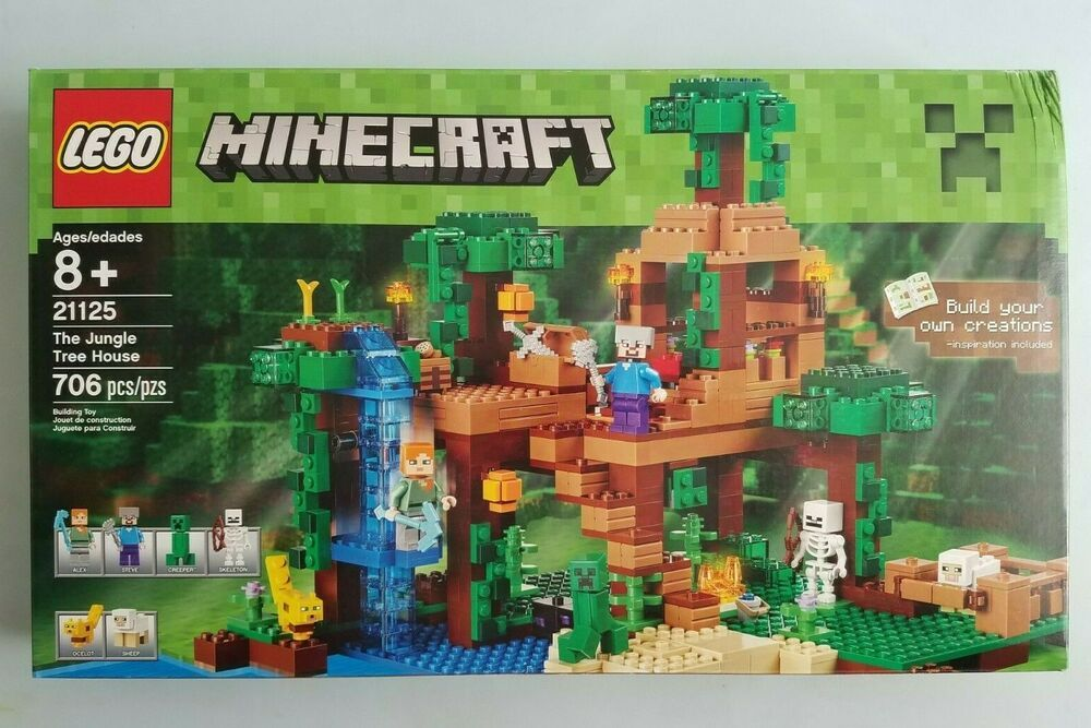Lego 21125 Minecraft The Jungle Tree House 706pcs Complete Set New
