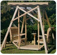 Canopy Glider Swing Plans, Woodworking Plans and Patterns by WoodcraftPlans.com