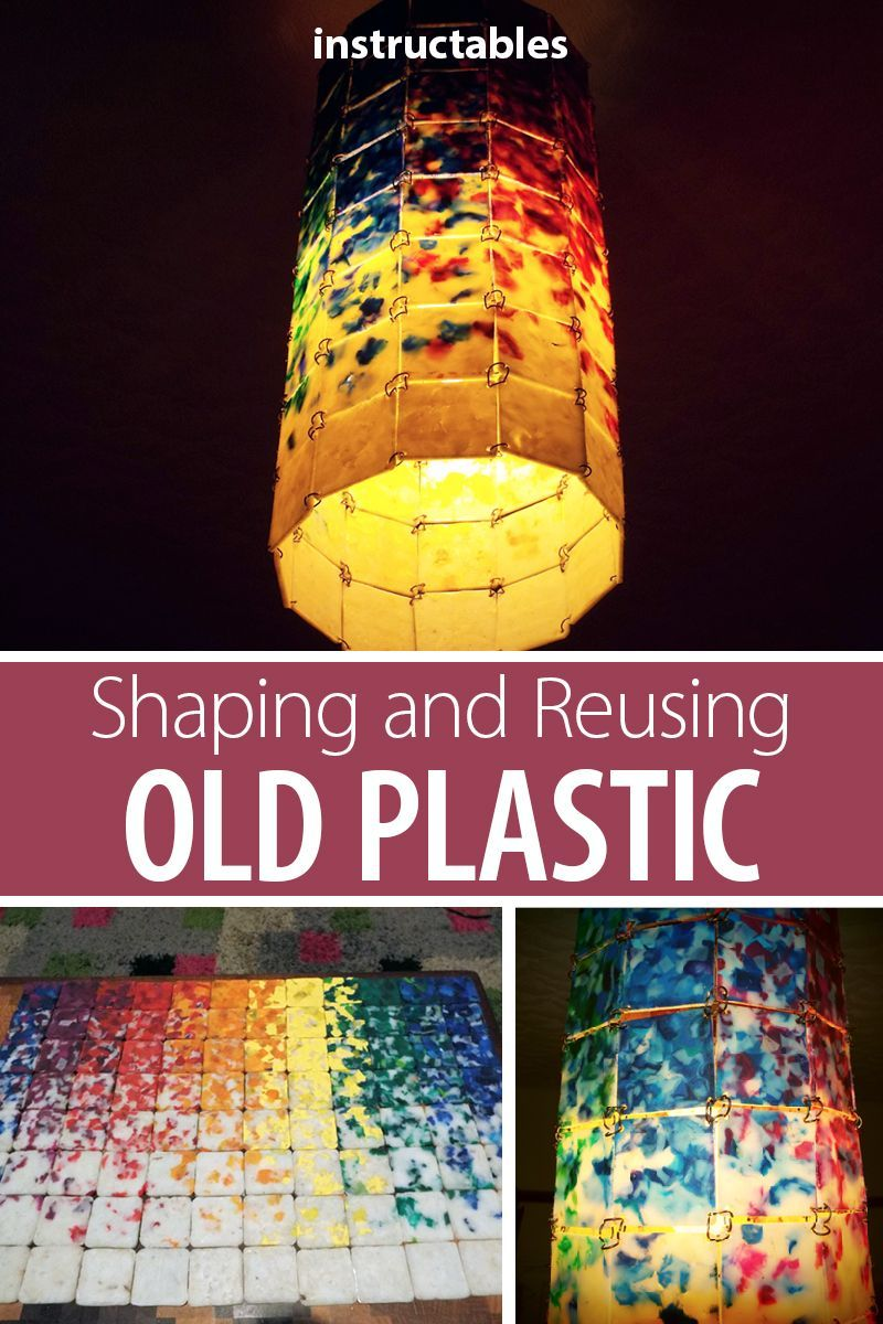 Reuse old plastic bottle caps by melting them down and shaping them to make a variety of projects. Learn the details on the process and how to make this lamp, a mobile, and a holiday garland! #recycle #upcycle #decor #home #Christmas #melting