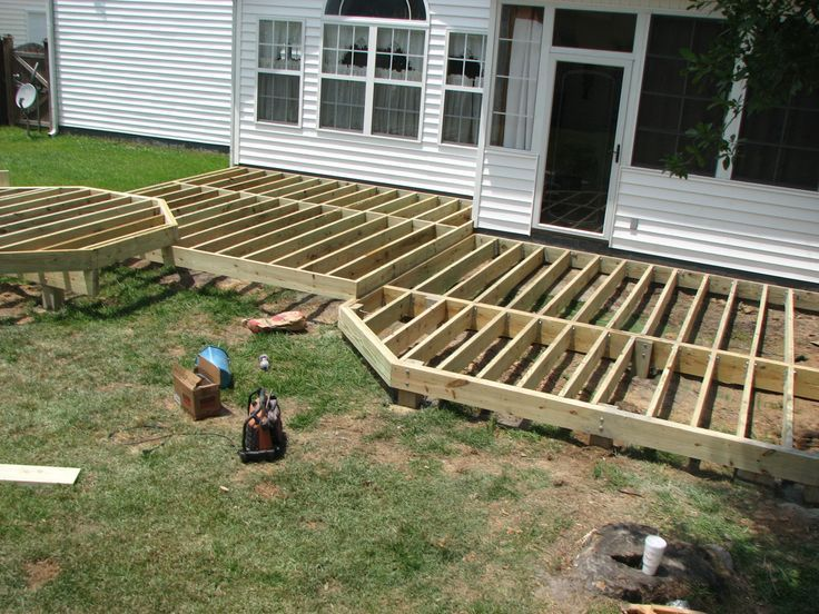 Deck framing tips google search deck pinterest for Ground level deck plans pdf